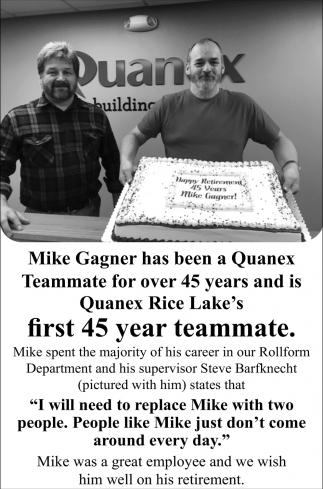 Mike Gagner Retirement
