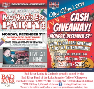New Year's Eve Party/New Year's 2019 Cash Giveaway