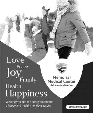 Love, Peace, Joy, Family, Health, Happiness