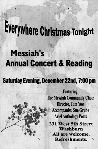 Messiah's Annual Concert & Reading