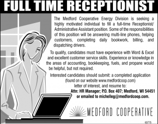 Full Time Recepcionist