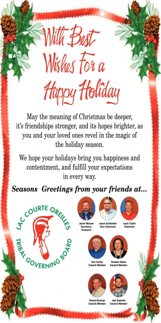 With the Best Wishes For A Happy Holiday