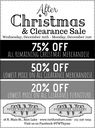 After Christmas & Clearance Sale