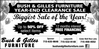 Furniture Year-End Clearance Sale