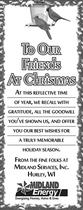 To Our Friends at Christmas