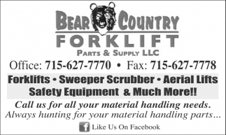 Forklifts, Sweeper Scrubber, Aerial Lifts