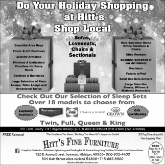 Do Your Holiday Shopping at Hitt's Shop Local