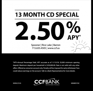 13 Month CD Special