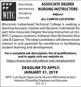 Associate Degree Nursing Instructors
