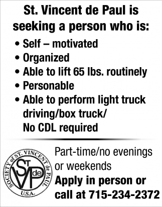 Part-Time Position