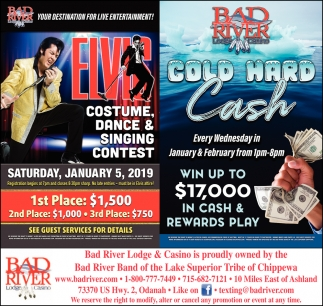 Elvis Costume, Dance & Singing Contest/Cold Hard Cash