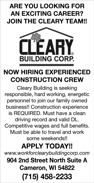 Join The Cleary Team!
