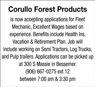 Accepting Applications for Fleet Mechanic
