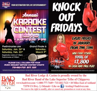 Annual Karaoke Contest/Knock Out Fridays