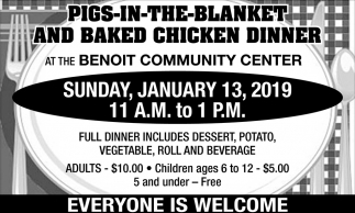 Pigs in the Blanket and Chicken Dinner