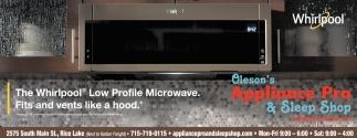 The Whirpool Low Profile Microwave