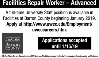 Facilities Repair Worker - Advanced