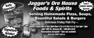 Homemade Pizza, Soups, Salads & Burgers