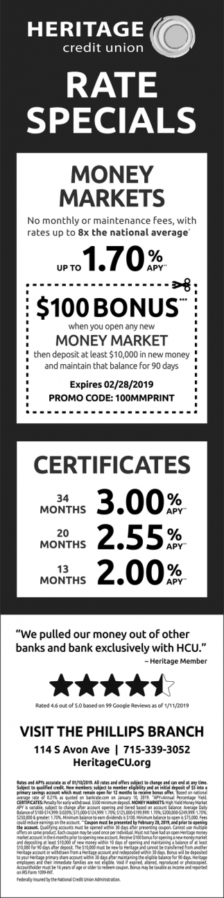 Money Market Rates Up To 1.70% APY
