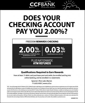 Freedom Rewards Checking