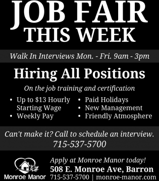 Job Fair This Week