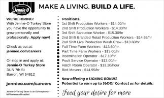 Make A Living. Build A Life.