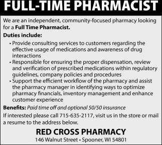 Full Time Pharmacist
