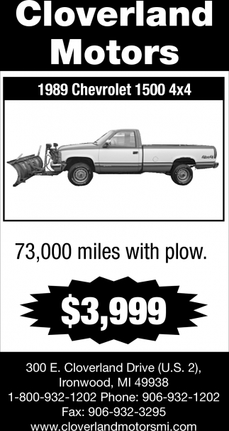 1989 Chevrolet 1500 4 x 4