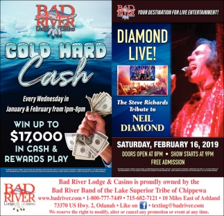 Cold Hard Cash/Diamond Live!