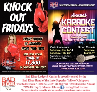Knock Out Fridays / Annual Karaoke Contest