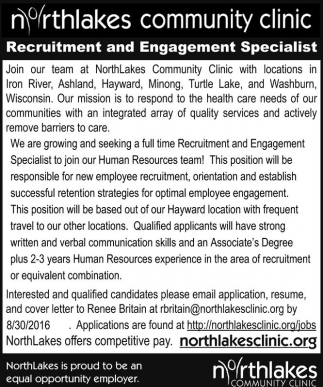 Recruitment and Engagement Specialist