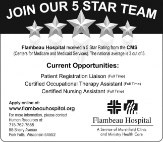 Flambeau Hospital - Human Resources