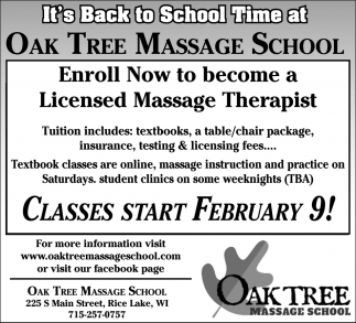 Enroll Now to become a Licensed Massage Therapist