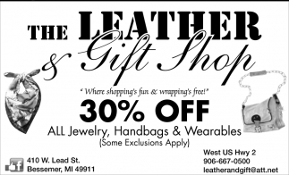 30% off all jewelry, handbags & wearables