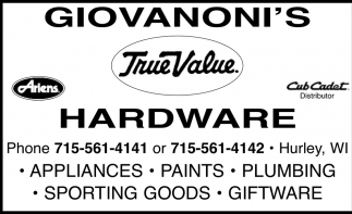Appliances, Paints, Plumbing, Sporting Goods, Giftware