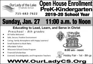 Open House Enrollment PreK-Kindergarten