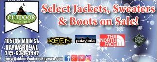 Select Jackets, Sweaters & Boots on Sale!