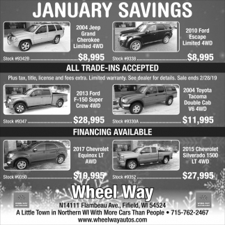 January Savings