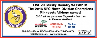 Minnesota Vikings games!