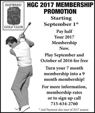 HGC 2017 Membership Promotion