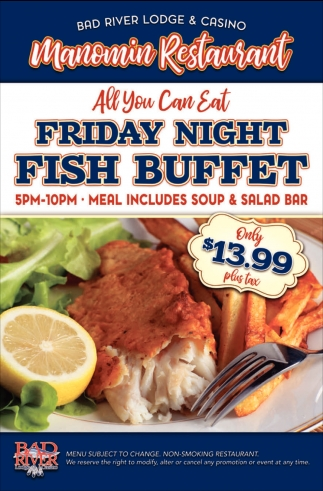 Manomin Restaurant Friday Fish Buffet
