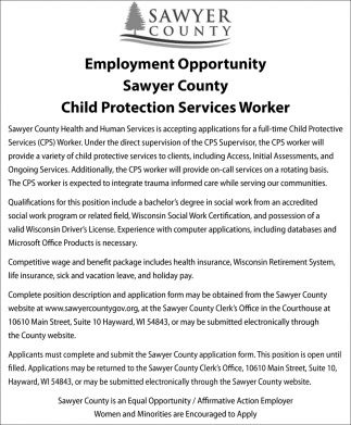 Child Protection Services Worker