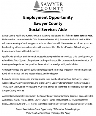Social Services Aide