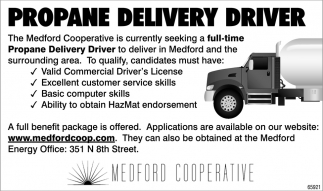 Propane Delivery Driver