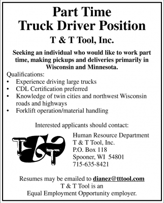 Truck Driver Position