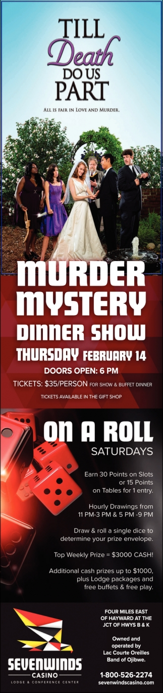 Murder Mystery Dinner Show / On a Roll Saturdays