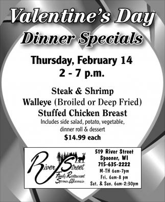 Valentine's Day Dinner Specials