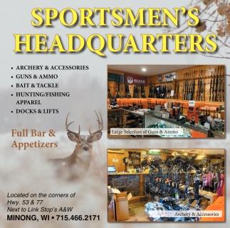 Archery, Guns, Apparel, Full Bar