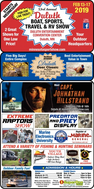 53rd Annual Duluth Boat, Sports, Travel & RV Show