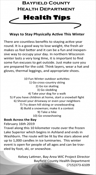 Ways to Stay Physically Active This Winter